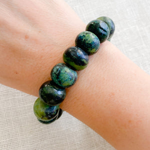 Alpine African Turquoise Large Bead Bracelet - Bellestyle
