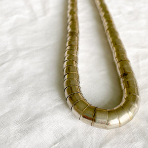Vintage Silver Tube Necklace - Bellestyle