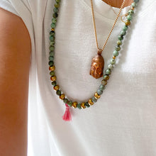 Vintage Buddha charm necklace