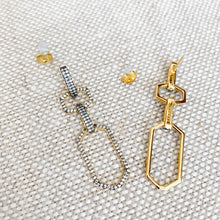 Pave crystal sterling silver statement earrings