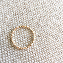 Gold ball detail ring