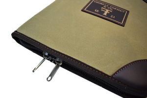 Pistol Case - Concealed Carry, Waxed Canvas by Thomas Ferney & Co - Thomas Ferney & Co. Store