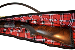 "Gun Case, Waxed 24 oz. Quilted Canvas & Leather, By Thomas Ferney & Co. - 47"" - Thomas Ferney & Co. Store"