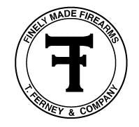 T. Ferney & Co. Finely Made Firearms Round Emblem Sticker