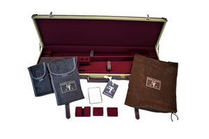Hard Shotgun Case, Canvas and Leather - By Thomas Ferney & Co. - Thomas Ferney & Co. Store