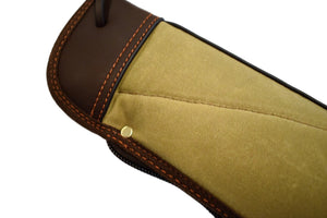 "Gun Case, Waxed 24 oz. Quilted Canvas & Leather, By Thomas Ferney & Co. - 49"" - Thomas Ferney & Co. Store"
