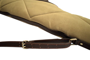 Scoped Rifle Case, Waxed 24oz. Canvas and Leather, By Thomas Ferney & Co. - Thomas Ferney & Co. Store