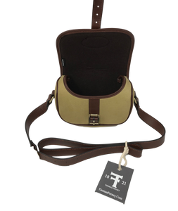 Low Profile English Speed Bag | Waxed Canvas and Leather - Thomas Ferney & Co. Store