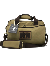 Shooting Range Bag - Waxed 24 oz Canvas with Leather Trim - Thomas Ferney & Co. Store