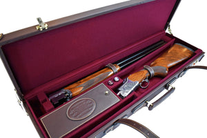 Hard Shotgun Case, Genuine Leather - By Thomas Ferney & Co. - Thomas Ferney & Co. Store