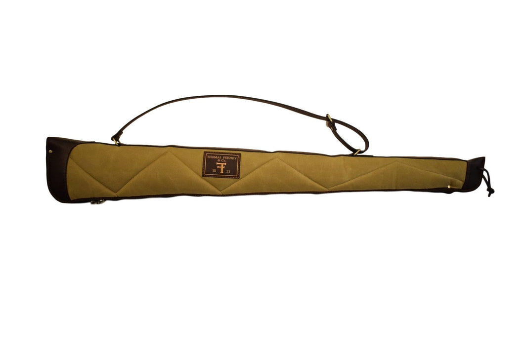 Gun Case, Waxed 24 oz. Quilted Canvas & Leather, By Thomas Ferney & Co. - 52