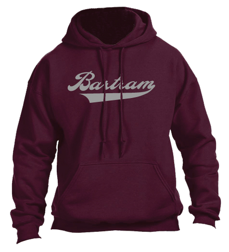 Bartram Maroon Hoodie Name with Tail