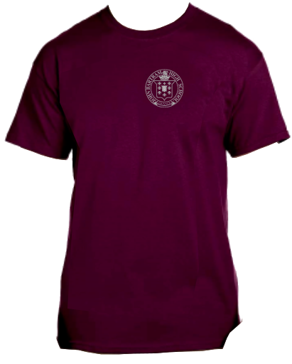 Bartram Maroon Tee Logo Left Chest