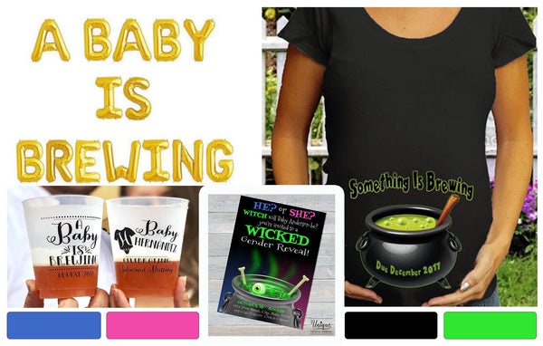 Witch Baby is Brewing? Halloween Gender Reveal ideas