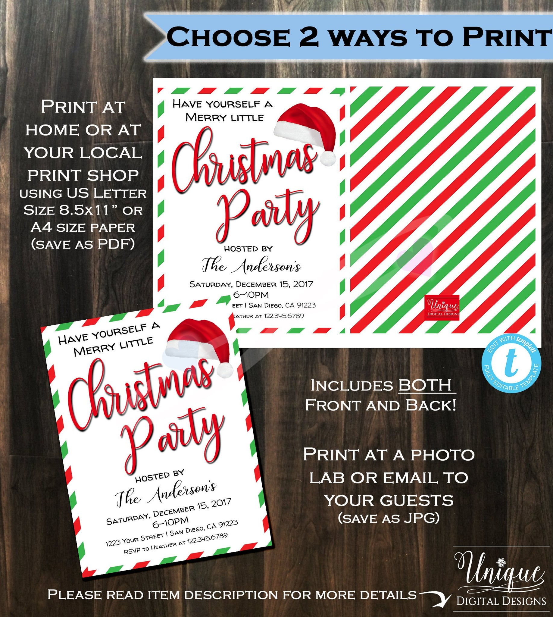 Christmas party invitation happy holiday party merry white elephant christmas party invitation happy holiday party merry white elephant gift exchange xmas printable custom solutioingenieria Image collections