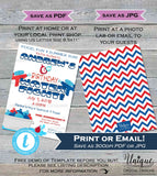 Water Fight Birthday Party Invitation Super Soaker Splash Pool Party ANY Age Pool Birthday Party Custom Printable INSTANT Self EDITABLE 5x7