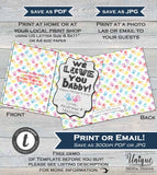 Personalized Fathers Day Photo Card, Editable for Dad from Kids, Hand print Last Minute Gift for Dad Photo Gift Printable