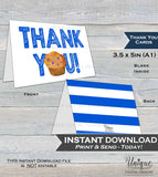 Printable Thank You Card, Stud Muffin Birthday Thank You, Breakfast Muffin Thanks, Folded Card, One Muffin 1st Birthday  A1