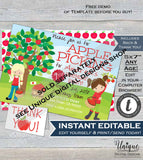 Apple of my eye 2nd Birthday Invitation, Editabl Second Birthday Invite, Apple of Our Eye Chalkboard Printable Template INSTANT DOWNLOAD 5x7
