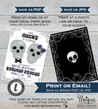 Halloween Couples Shower Invitation, Editable Death do us Party Invite, Wedding Bone Skeleton Skull Printable Template INSTANT DOWNLOAD 5x7