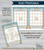 Baby Shower Bingo, Little Pumpkin Baby Shower Games, Bingo Printable, Baby Shower Game Board Baby, Blank Fill In Custom
