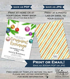 Ornament Exchange Invitation, Editable Christmas Ornament Party Invite, Holiday Party Decoration Gift Printable Custom