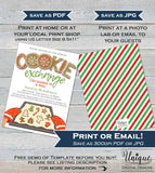 Christmas Cookie Exchange Invitation, Editable Cookie Swap Party Invite, Holiday Party Gift Exchange, Printable Custom INSTANT DOWNLOAD 5x7