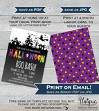 Halloween Boo Bash Invitations, Editable School Event Flyer PTA School Costume Party Invite pto Dance Printable   + Flyer
