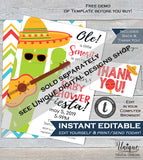 Feliz Navidad Invitation, Editable Holiday Fiesta Invitation, Mexican Christmas Taco bout a Party, Printable Template INSTANT DOWNLOAD 5x7