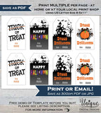 Printable Halloween Gift Tags, Kids Editable Halloween Thank you, Halloween Favor Tags, Halloween Labels, Custom