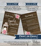 Christmas Family Reunion Invitations, Rustic Editable Annual Family Reunion Invite Family BBQ Party Gathering Printable INSTANT DOWNLOAD 5x7