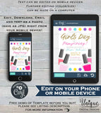 Spa Party, Girls Day Out Invitation, Editable Spa Day Invite, Bachelorette Girls Night Out Spa Birthday Party Printable