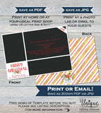 Photo Christmas Card  Printable, Editable Christmas Card with photos, Holiday Cards Photo Greeting, Gold Black