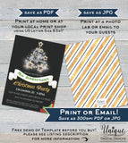 Editable Christmas Party Invitation, Merry Christmas Party Invite, White Elephant Exchange Holiday Template Printable INSTANT DOWNLOAD 5x7