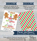 Christmas Gender Reveal Invitation, Editable Christmas Gingerbread Party Invite, Winter Baby Reveal Holiday Printable INSTANT DOWNLOAD 5x7