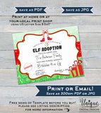 Editable Elf Adoption Certificate, Elf Adoption Letter, Custom Santa Certified, North Pole, Christmas Elf Letter Printable,