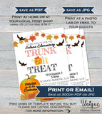 Trunk or Treat Flyer, Editable Halloween Invitation , Kids Church Community School Halloween Event Print