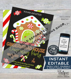 Christmas Gender Reveal Sign, Editable Gingerbread Theme Board, Oh Snap He or She What will Baby be?, Old Wives Tales Sign, INSTANT DOWNLOAD