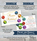 CUSTOMER Order - PRINTED Rodan and Fields Happy Holiday Cards Christmas Scratch Off Thank You 4x6