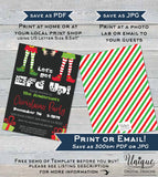 Lets get Elfed Up Invitation, Editable Christmas Party Invitation, Happy Holiday Party Adult Gift Exchange, Printable INSTANT DOWNLOAD 5x7