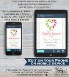 Editable Christmas Couples Shower Invitation, Winter Christmas Party Invite, Wedding Reception Holiday Party, Printable INSTANT DOWNLOAD 5x7