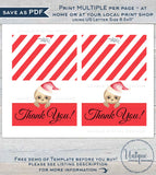Sloth Christmas Thank You Cards, Editable Holiday Thank you, Slothmas Printable, Folded Card Blank Inside   A1