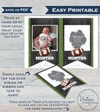 Football Banner Template, Editable Football First Year Photo Bunting Flags, diy 1st Birthday Decor Printable Template INSTANT ACCESS UBFT