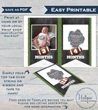 PRINTED Football Banner , Football First Year Photo Banner Flags, Editable Football 1st Birthday Decor, Printable INSTANT EDITABLE