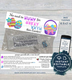 Easter Sample Bags Topper, Rodan and Skincare, Easter Egg Hunt Great Skin, Editable Product Instruction Card r f Printable, INSTANT DOWNLOAD