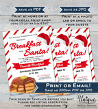 Breakfast with Santa Flyer Invitation, Editable Pancakes with Santa Invite, Church Christmas Santa School, Custom Printable INSTANT DOWNLOAD