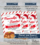 Pancakes with Santa Flyer Invitation, Editable Breakfast with Santa Invite, Church Christmas School Fundraiser, Printable