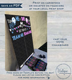 Gender Reveal Cast Vote Sign, Soccer Baby Board He or She Chalkboard What will Baby Custom Printable Template INSTANT EDITABLE Digital 16x20