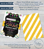 Mardis Gras Birthday Party Invitation, 30th Any Age, Editable Adult Party Invite Costume Party Masks Beads Printable Custom INSTANT DOWNLOAD