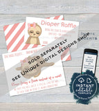 Sloth Baby Shower Invitation, Editable Girls Sloth Baby Shower Invite, Slow Down Baby Sloth, Custom Printable Template INSTANT DOWNLOAD 5x7